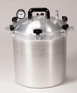 All American 1925X 25QT Heavy Cast Aluminum Non-Electric Sterilizer Autoclave