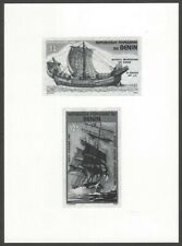 Benin #C328-29 1984 SHIPS composite photographic proof