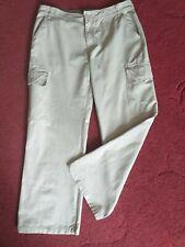"""BURTON 36r cotton beige combat cargo pants trousers.  Inside leg 31"""".  FAST POST"""