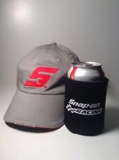 Snap On Tools Gray Baseball Cap-Stretch Fit-Adult-Red S-FREE Can Koozie