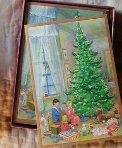 NIB Caspari  Christmas Boxed Christmas Cards - Box of 16