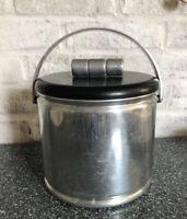Vtg Mid Century Aluminum Lined Ice Bucket with Lid