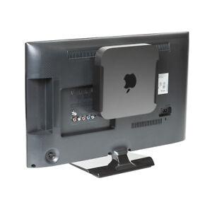HIDEit MiniU Mount Black- Patented Mac Mini Mount, VESA Mount, Under Desk Mount