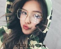 Oversize Square Glasses frames Retro Large eyeglasses Women Men Clear lenses RX