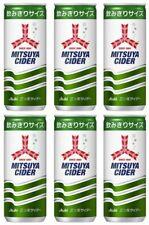 Soft Drink Mitsuya Cider Soda cans 250ml X 6 Cans F/S Japan