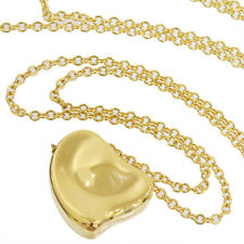 TIFFANY & CO. Elsa Peretti Full Heart Pendant Necklace 18k Yellow Gold D1303