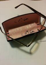 Bebe Amorous BB5015 White/ Copper W/Rhinestones Half-Rim RX Eyeglass Frame +Case