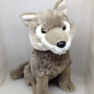 "Disney Parks GRAY WOLF PUP Plush Jungle Book Stuffed Animal Dog Toy 11"""
