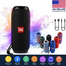 Bluetooth Speaker Wireless Waterproof Outdoor Stereo Bass USB/TF/FM Radio LOUD