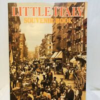 Vintage Rare Little Italy Souvenir Book Booklet New York from Early 1980s