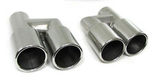 Audi A4 S4 B7 8E Double Twin Exhaust Tip Tail extension pipe Tips pipes muffler