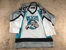 Vintage North Pittsburgh Wildcats Hockey Jersey Youth L Bakka Sports #95 Minor