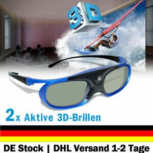 2X Aktive 3D-Brille Geeignet Für All 3D DLP-Projektoren Optoma Acer Vivitek BenQ