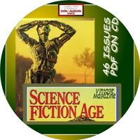 SCIENCE FICTION AGE VINTAGE MAGAZINE - 46 ISSUES - PDF FILES ON CD-SCI-FI