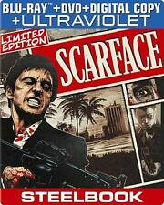 Scarface (Blu-ray/DVD, 1983, 2-Disc, With Digital Copy UltraViolet) STEELBOOK