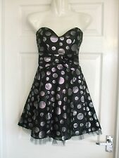 WOMENS SIZE 12 PROM DRESS COCKTAIL Summer Ladies Black Smart Evening WINTER