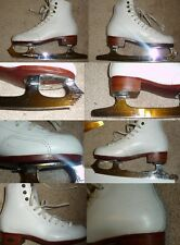 Ice Figure Skates or boots for Quad Roller Skates Riedell 300 Girls Size 13 #2a