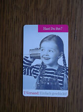PHONECARD GERMAN USED TELECOM VERSAND HAST DU IHN? 12 DM TIN CAN TELEPHONE GIRL