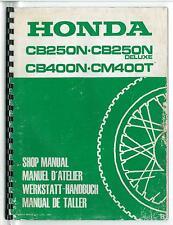 Revue d'Atelier complémentaire HONDA CB 250 N / 400N - CM 400 T Manuel Technique