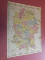 100% ORIGINAL WILTSHIRE MAP BY TUNNICLIFFE  C1791 ORIGINAL COLOUR