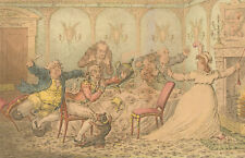 James Gillray (1756-1815) - Etching, Company Shocked at a Lady Ringing the Bell