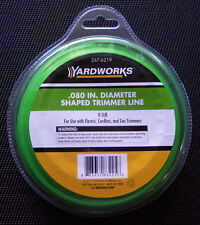 """NIP YARDWORKS .08"""" SHAPED REFILL TRIMMER  LINE,0.5 Lb For ELECTRIC, CORDLESS,GAS"""