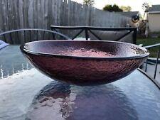 "PLUM 11"" serving bowl by Fire and Light Art Glass."