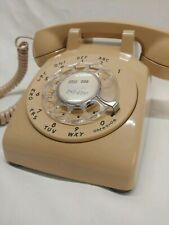 Vintage tan beige Western Electric Bell System Rotary Telephone