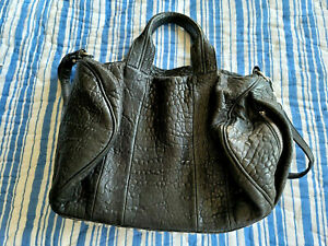 ALEXANDER WANG Rockie, Black leather with silver studs HEAAVY BAG