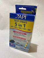 API 5 in 1 Aquarium Test Strips pH Alkalinity GH Nitrate Freshwater Saltwater