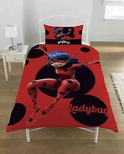 Miraculous Lady Bug Panel Single Bed Duvet Quilt Cover Set Brand New Gift
