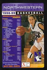Northwestern Wildcats--1998-99 Basketball Magnet Schedule