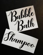 Sticker Label for Bathroom Glass Jars/Tins/Canisters/Tubs/Storage/Boxes/Box/Pots
