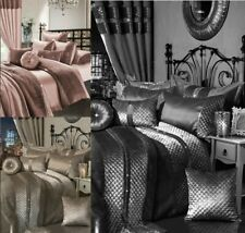 7 Piece Duvet Cover Comforter Set Complete Bedding Set Fitted Sheet Cushions