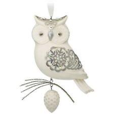 Hallmark 2017 Winter White Owl Porcelain LIMITED EDITION Ornament