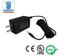 AVACOM High Quality AC/DC Adapter, Power Supply, 12V/1A, 10ft Cord, 5.5mm Barrel
