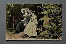 R&L Postcard: J Welch JWS 2025 Edwardian Scene, Caught by Camera Kissing Lovers