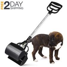 Metal Base Dog Cat Pooper Scooper Rake Pet Large Waste Poop Clean Up Grip Clip