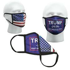 Trump Blue USA Reversible Face Mask Reusable Washable Masks ✅ Double  ✅ Layer