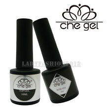 Pro 10ML Disposable CHE Soak-Off UV LED Nail Art Top Coat Base Gel Polish Set