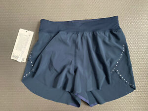 """Lululemon Find your pace Lined high-rise Short 3"""" True Navy SZ 4 NEW DEFECT"""