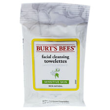 Facial Cleansing Towelettes Sensitive by Burts Bees for Women - 10 Pc Towelettes