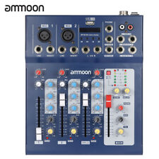 ammoon F4-USB 3 Channel Digital Mic Line Audio Mixer Console for Recording M9D1