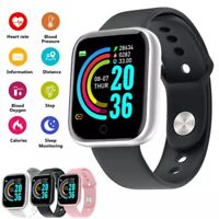 Smart Watch Bluetooth Fitness Sports Tracker Heart Rate Pedometer Blood Pressure