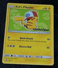 Ash's Pikachu # SM112 Sun & Moon Black Star Promo Pokemon Trading Cards MINT