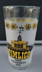 Vintage 1979 104th Preakness of Pimlico Horse Race Mint Julep Glass