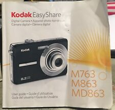 Kodak EasyShare Digital Camera M763 M863 & Md863 Users Manual Instructions Book