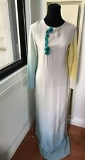 Emilio Pucci 100% Silk Ombre Gradient Floral Maxi Dress Gown Sz 44/10