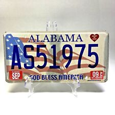 ALABAMA Heart of Dixie God Bless America License Plate Expired 2009 #AS51975