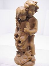 """Wood Carving Figurine/Statue-""""Brother & Sister""""  Germany"""